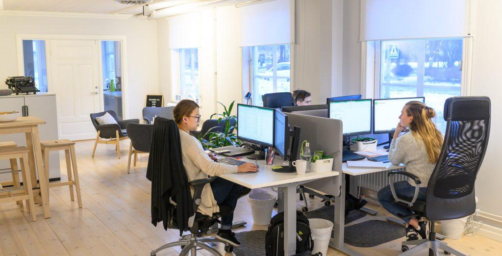 Där moderna kontor möter anrik miljö trivs Money som bäst