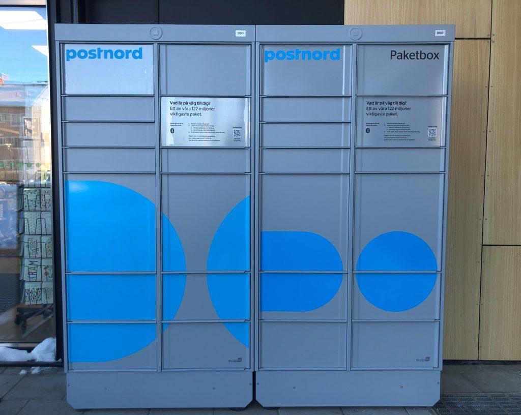 PostNords första paketboxar finns nu på Varvet